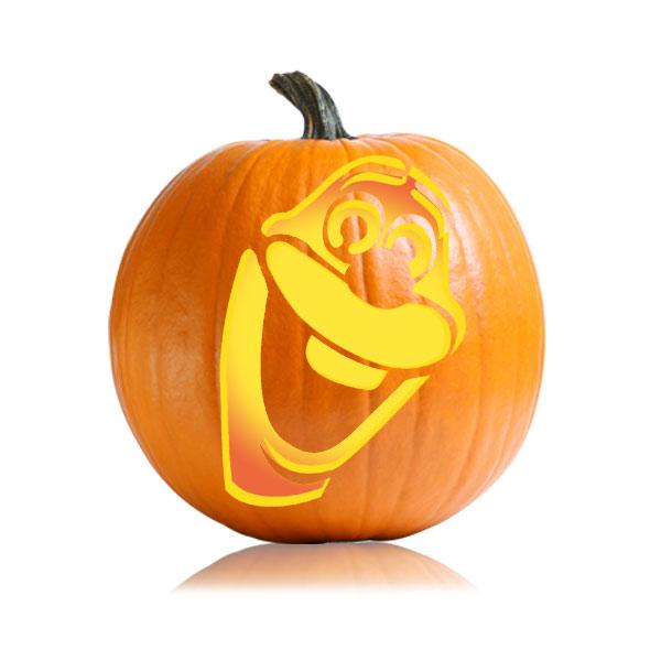 Frozen Olaf Pumpkin Stencil