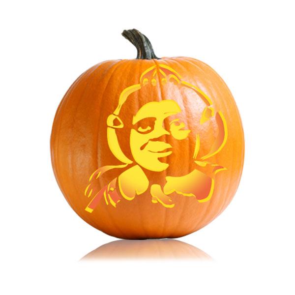 Princess Fiona Pumpkin Stencil