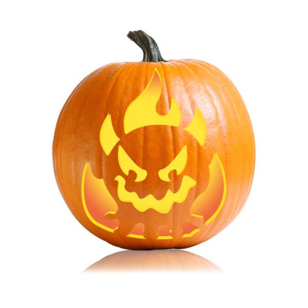 Firebeast Pumpkin Stencil