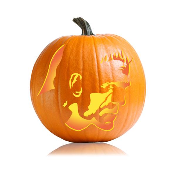 Frankenstein Profile Pumpkin Stencil
