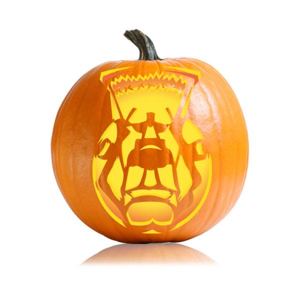 Frank Pumpkin Stencil