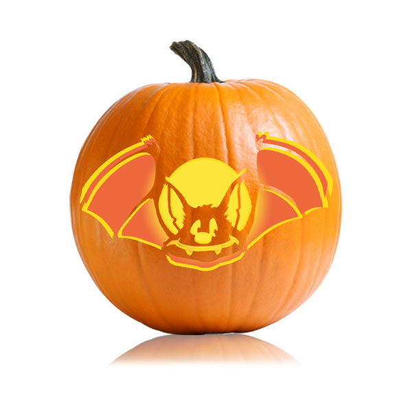 Fruity Bat Pumpkin Stencil