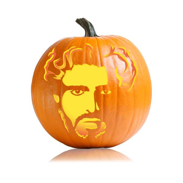 Rob Stark Pumpkin Stencil