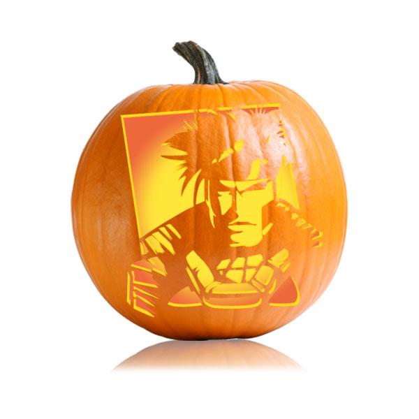 Gambit X-men Pumpkin Stencil