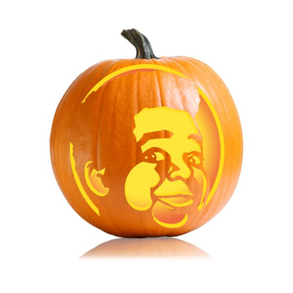 Gary Coleman Pumpkin Stencil