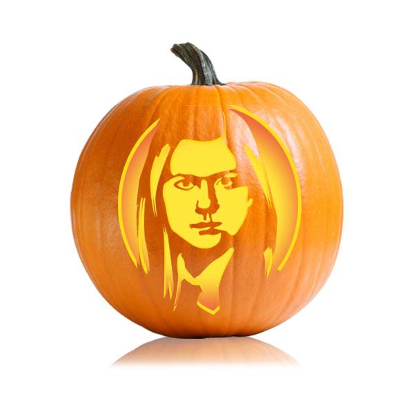 Ginny Weasley Pumpkin Stencil