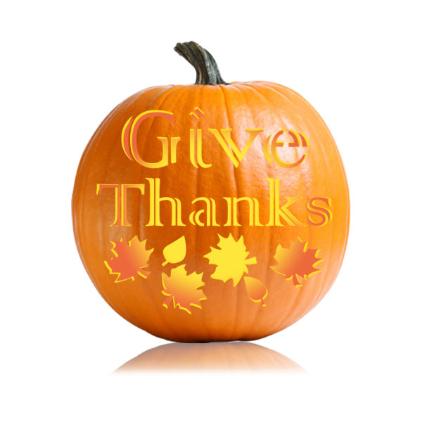 Give Thanks Pumpkin Stencil