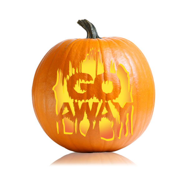 Go Away Pumpkin Carving Pattern