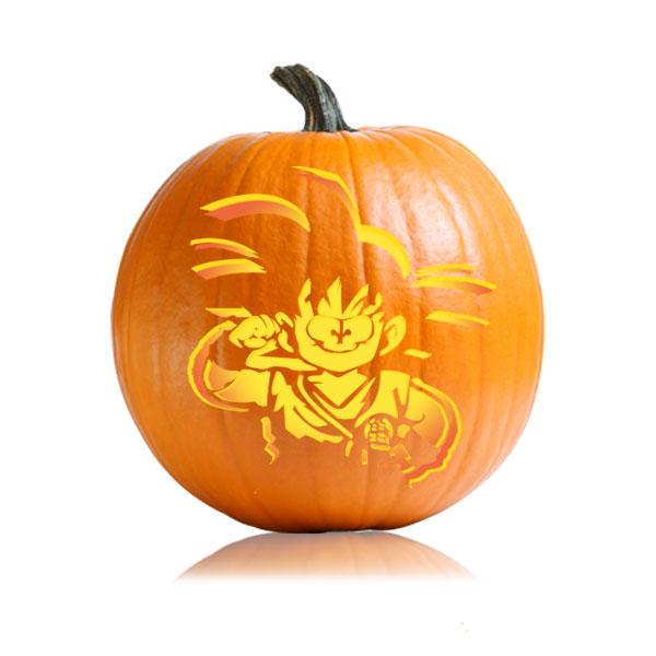 Goku Pumpkin Stencil