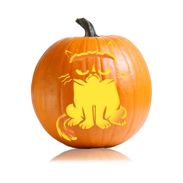 Grumpy cat pumpkin pattern ultimate stencils