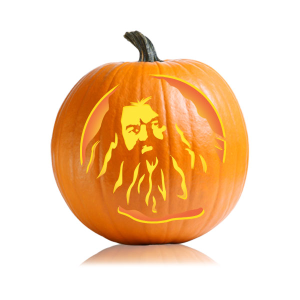 Hagrid Pumpkin Stencil