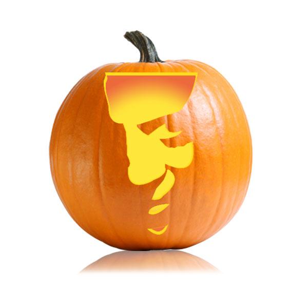 Hannibal Lecter Pumpkin Stencil
