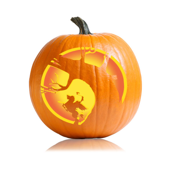 Headless Horseman Pumpkin Stencil