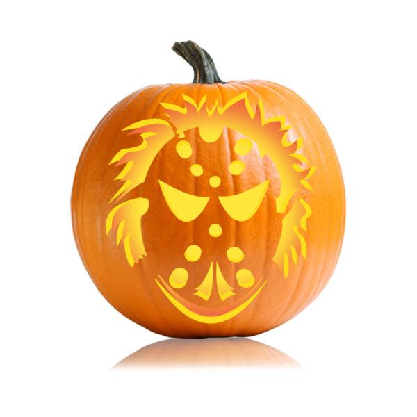 Hockey Terror Pumpkin Stencil