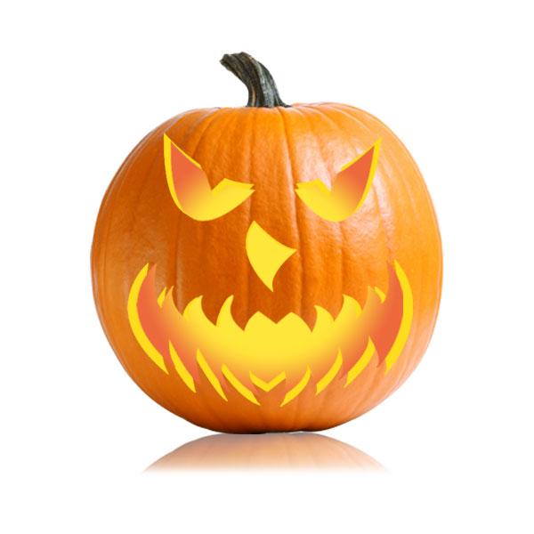 Scary jackolantern stencil ultimate pumpkin stencils