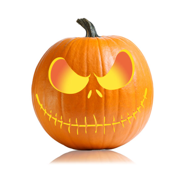 Jack Skellington Pumpkin Carving Pattern