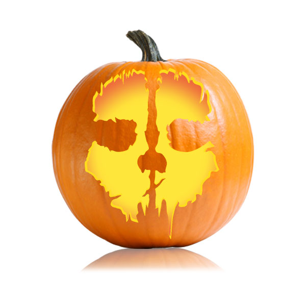 Jagged Skull Pumpkin Pattern