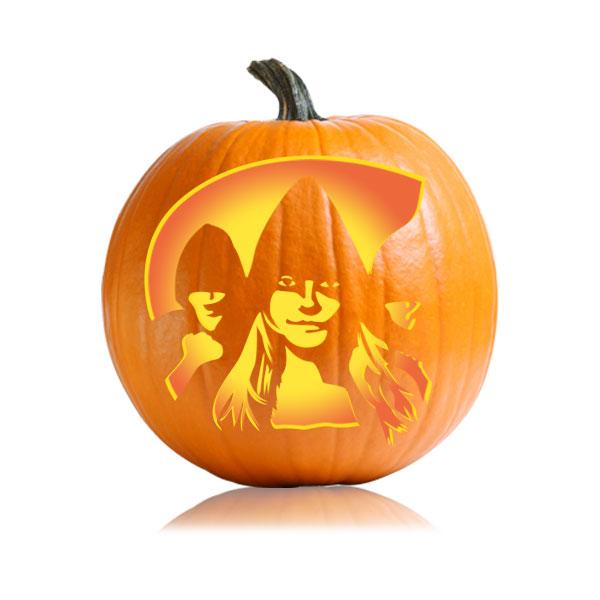 Jane New Moon Pumpkin Stencil