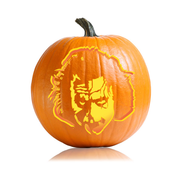 Dark knight joker pumpkin carving stencil