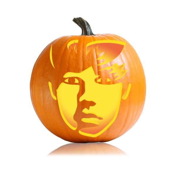 Justin Bieber Pumpkin Stencil