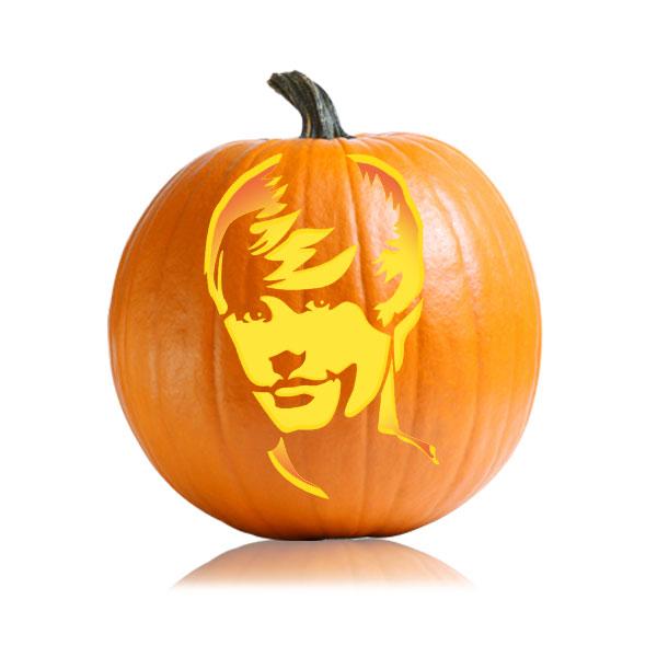 Justin Bieber NSN Pumpkin Stencil