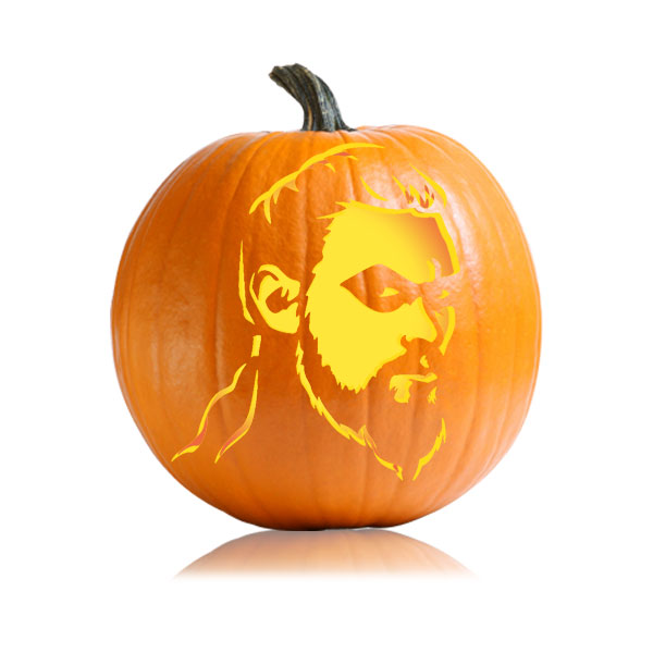 Khal Drogo Pumpkin Stencil
