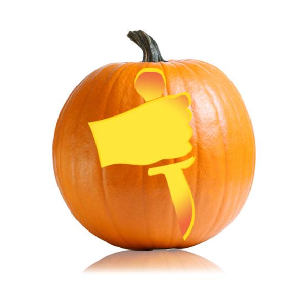 Knife Wielder Pumpkin Stencil