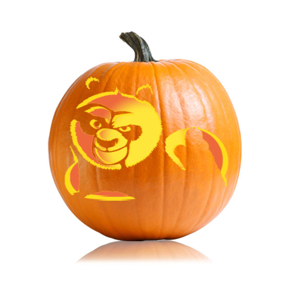 Kung Fu Panda Pumpkin Pattern