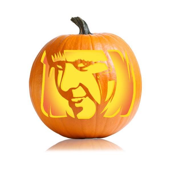 Lady Gaga Pumpkin Stencil