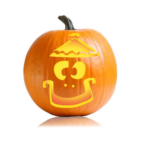 Lampshade Jack Pumpkin Stencil