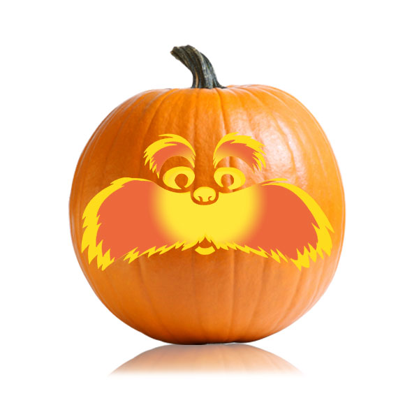 Lorax Pumpkin Carving Pattern