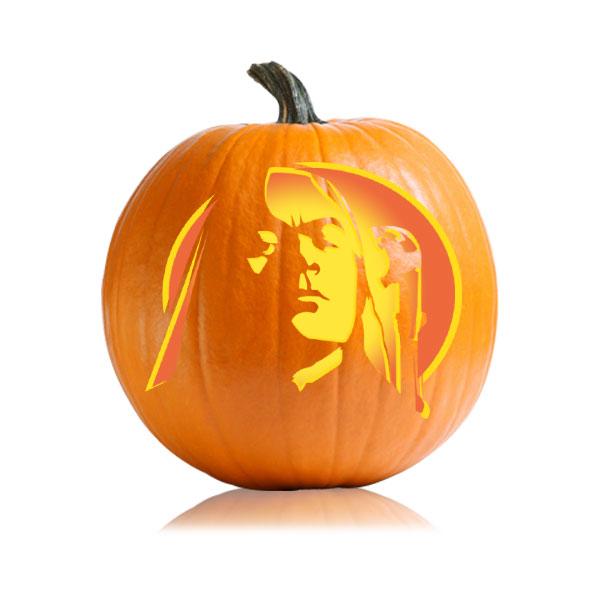 Lucius Malfoy Pumpkin Stencil