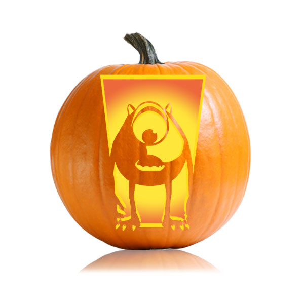 Mike Wazowski Pumpkin Pattern - Ultimate Pumpkin Stencils