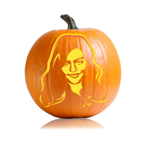Mindy Kaling Pumpkin Stencil