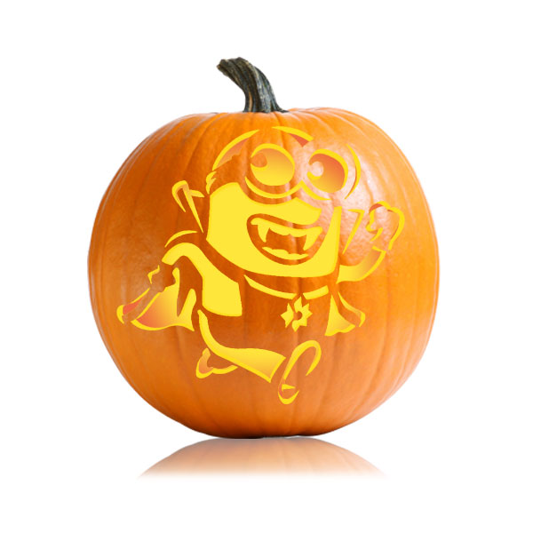 Despicable Me Minion Vampire Pumpkin Stencil