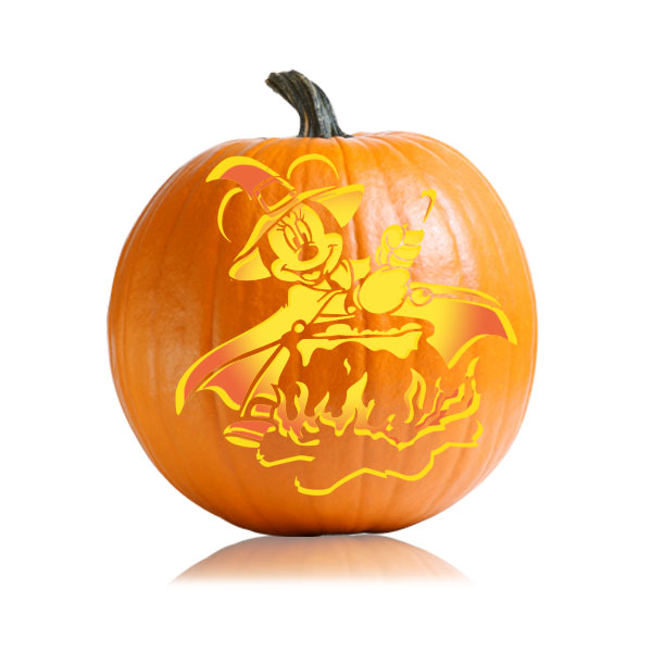 Witch Minnie Pumpkin Pattern