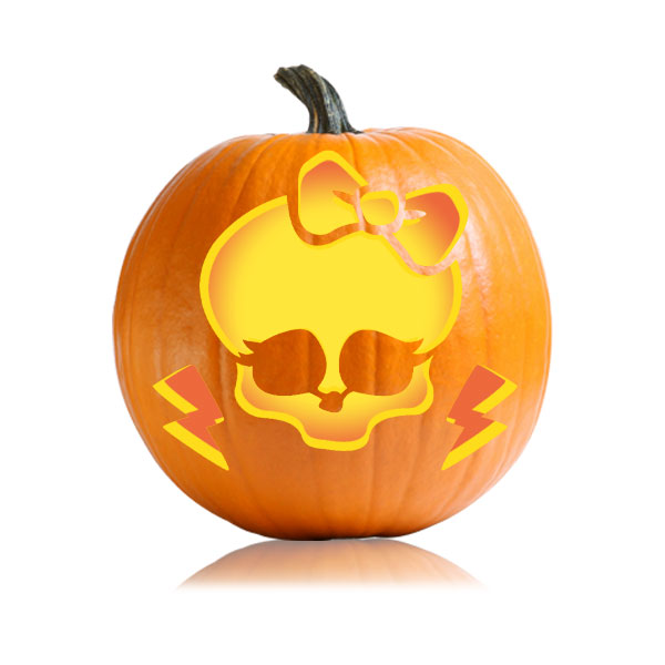 Monster High Pumpkin Carving Pattern