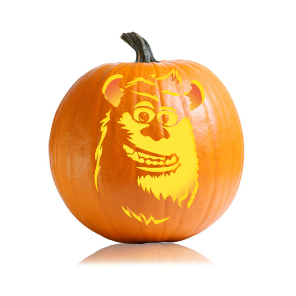 Sulley Monster Pumpkin Pattern