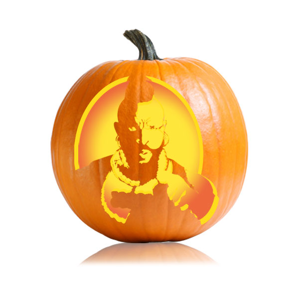 Mr. T Pumpkin Stencil