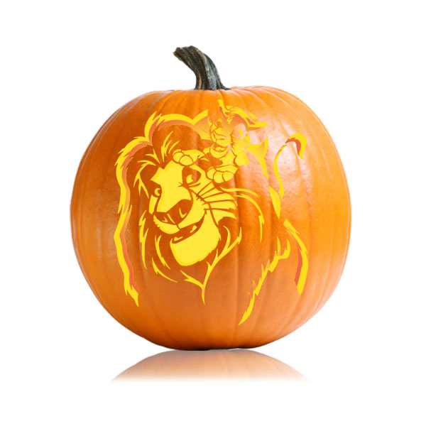 mufasa lion king pumpkin pattern ultimate pumpkin stencils rh ultimate pumpkin stencils com detroit lions pumpkin carving patterns