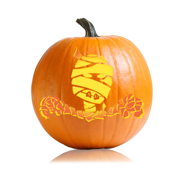 Mummy Pumpkin Stencil