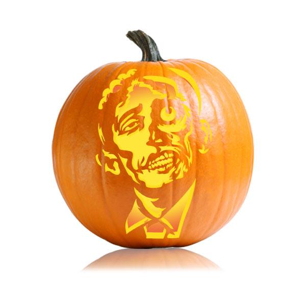 President Ozomba Pumpkin Carving Pattern