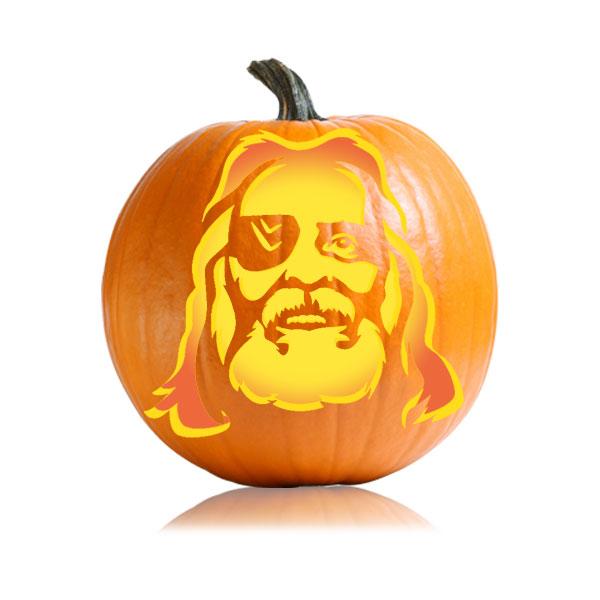 Odin Pumpkin Stencil