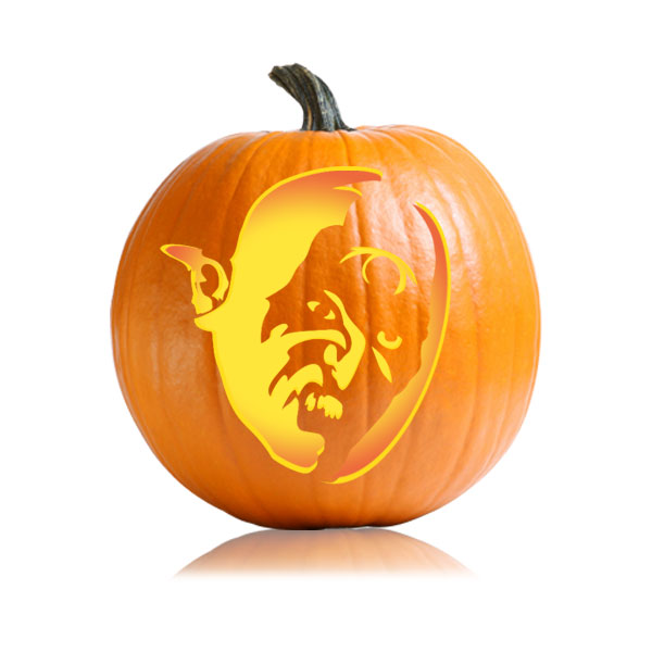 Orc Pumpkin Carving Pattern