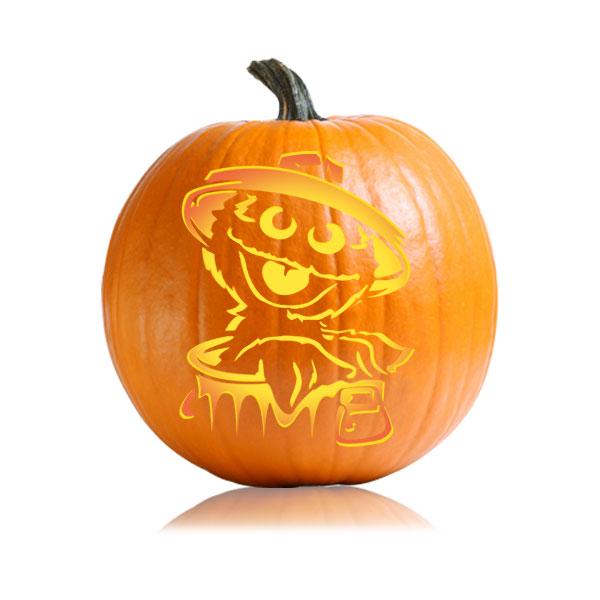 Sesame Street - Oscar Pumpkin Stencil