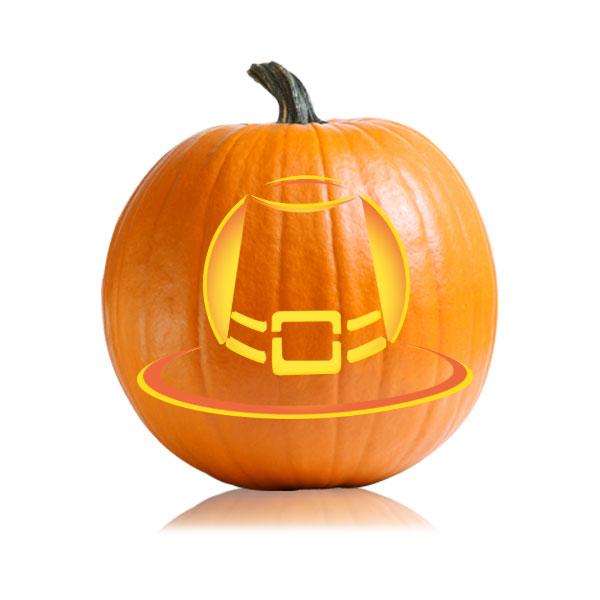 Pilgrims Hat Pumpkin Stencil