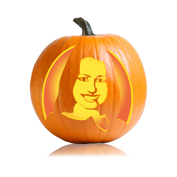 Rachel Berry Glee Pumpkin Stencil