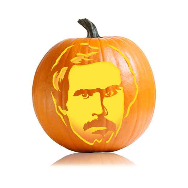 Ron Burgundy Pumpkin Pattern