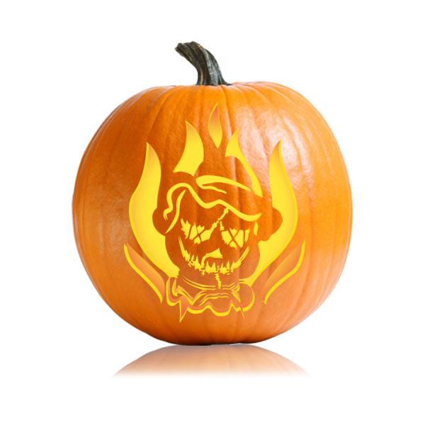 Scarecrow Mask Pumpkin Stencil