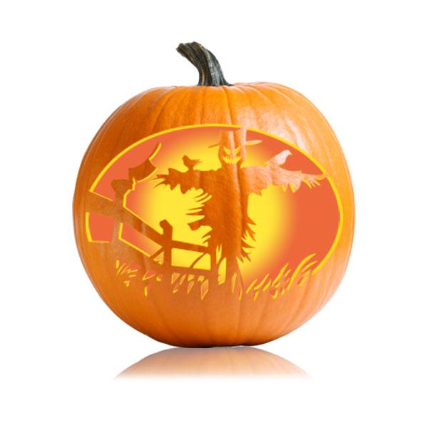 Scarecrow Pumpkin Stencil